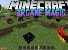 Arcane Magic mod para el logotipo de Minecraft