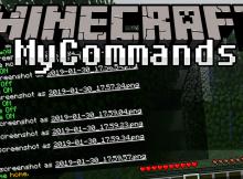 Mod Mycommands para el logotipo de Minecraft